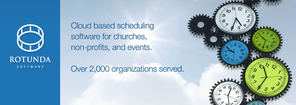 Scheduling software for churches, non-profits, and events. Ministry software, volunteer scheduling, event scheduling.