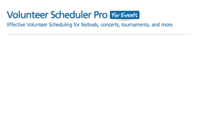 Volunteer Scheduler Pro for Events