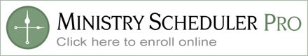 Ministry Scheduler Pro Scheduling Software - Click to enroll